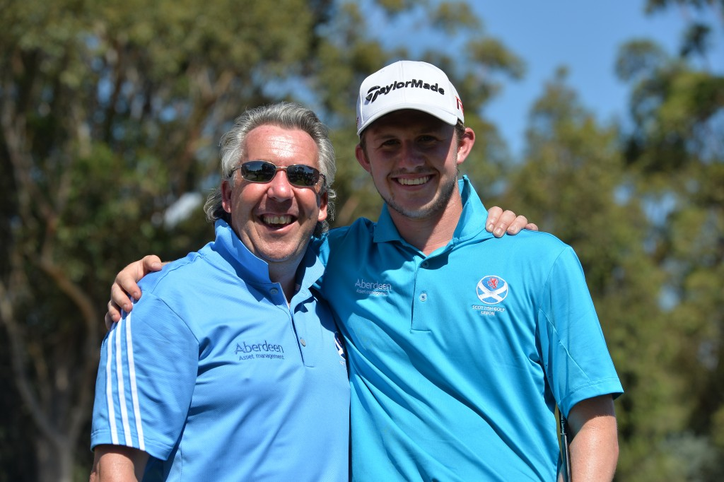 Connor Syme and National Coach Ian Rae (Image credit Golf Australia)