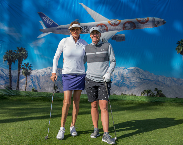 ANA Inspiration pro am with Abby Wambach and Caitlyn Jenner (credit Getty Images)