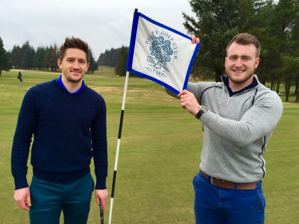 RBS Six Nations 2016 Player of the Tournament Stuart Hogg and Henry Pyrgos back Scottish Golf initiative.