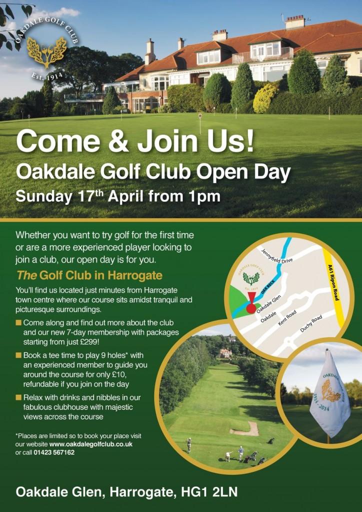 Oakdale Golf Club Open Day