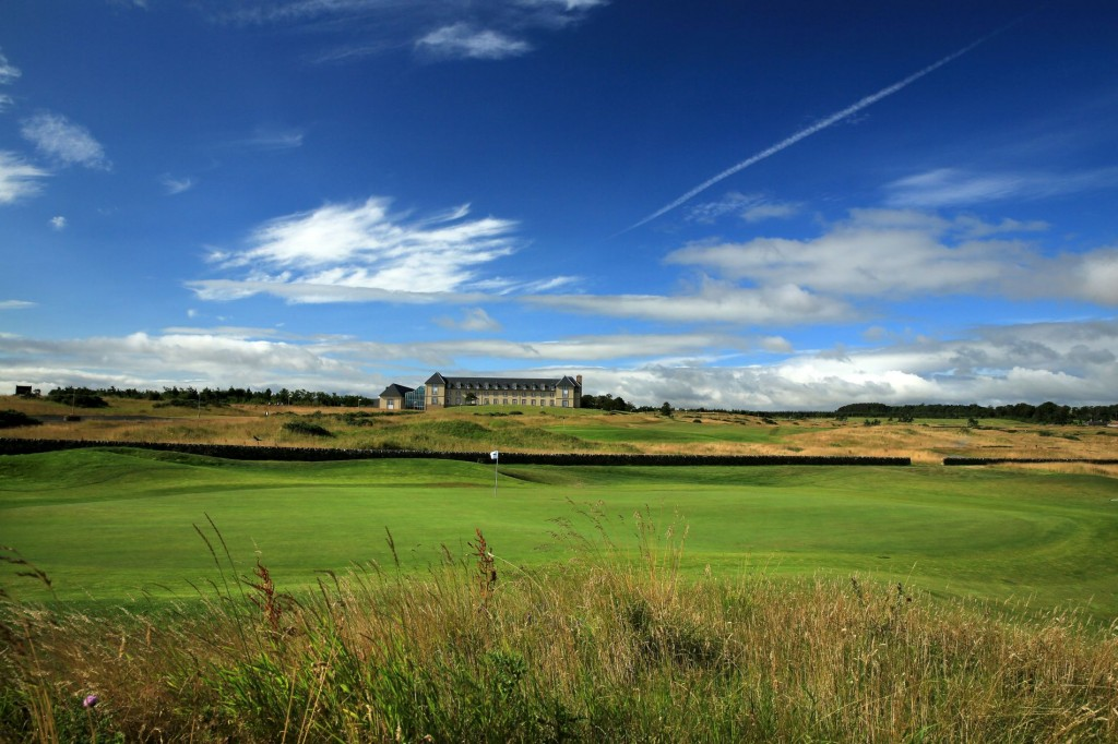 ST ANDREWS, UNITED KINGDOM - JULY 30:  The green on the 18th hole on the Torrance Course at The Fairmont St Andrews Bay Golf Resort on July 30, 2014 in St Andrews, Scotland.  (Photo by David Cannon/Getty Images)
