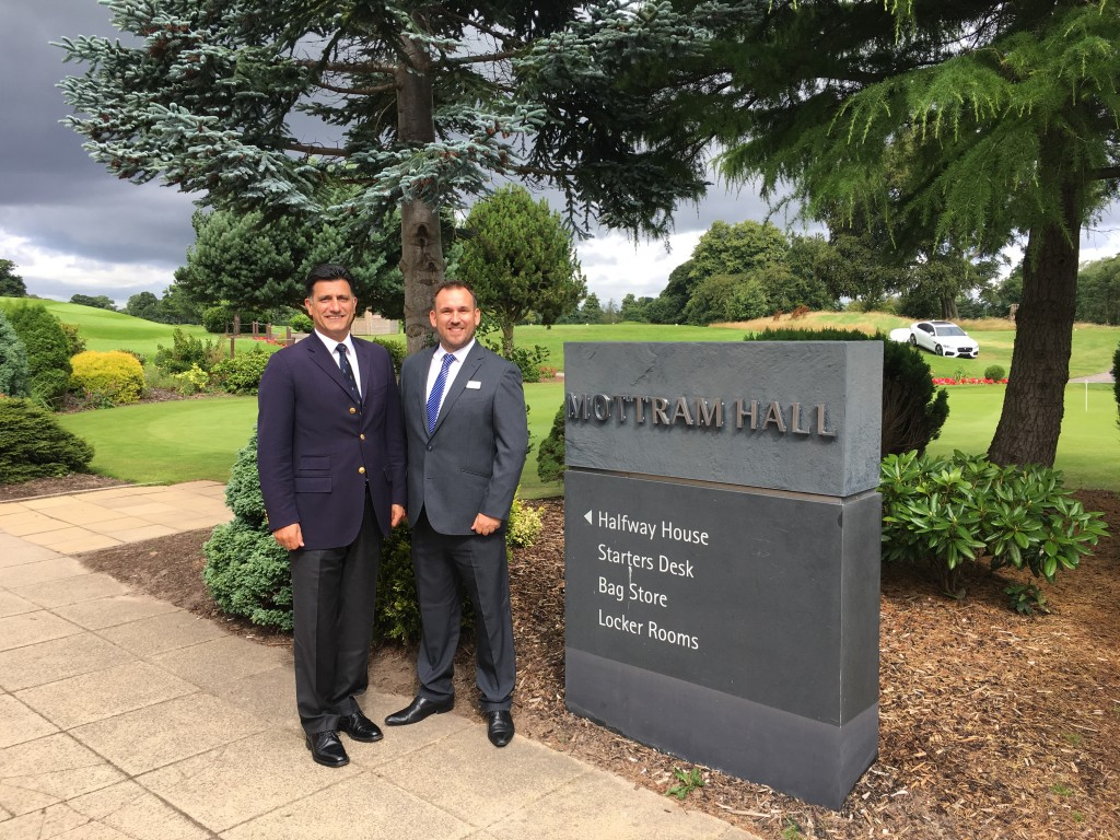 Rob Warrener (right) with Mottram Hall GM Michael Lavizani