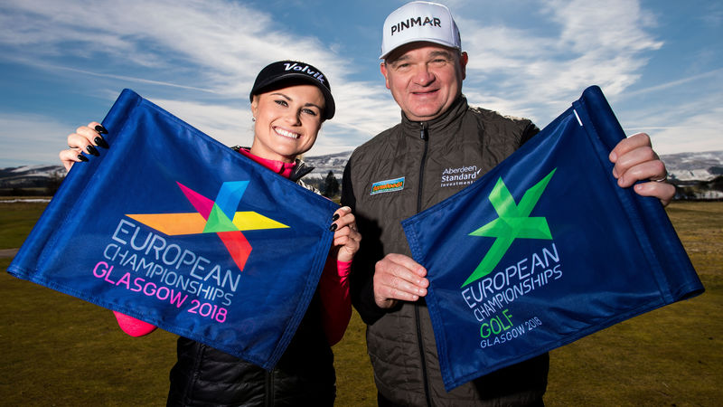 Carly Booth and Paul Lawrie Unveiled As Glasgow 2018 Ambassadors