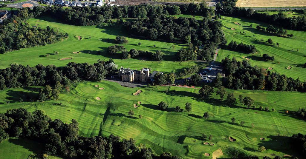 MUSSELBURGH, UNITED KINGDOM - SEPTEMBER 21:  aerial views of the Royal Musselburgh Golf Club on September 21, 2012,  in Musselburgh, Lothian, Scotland.  (Photo by David Cannon/Getty Images)