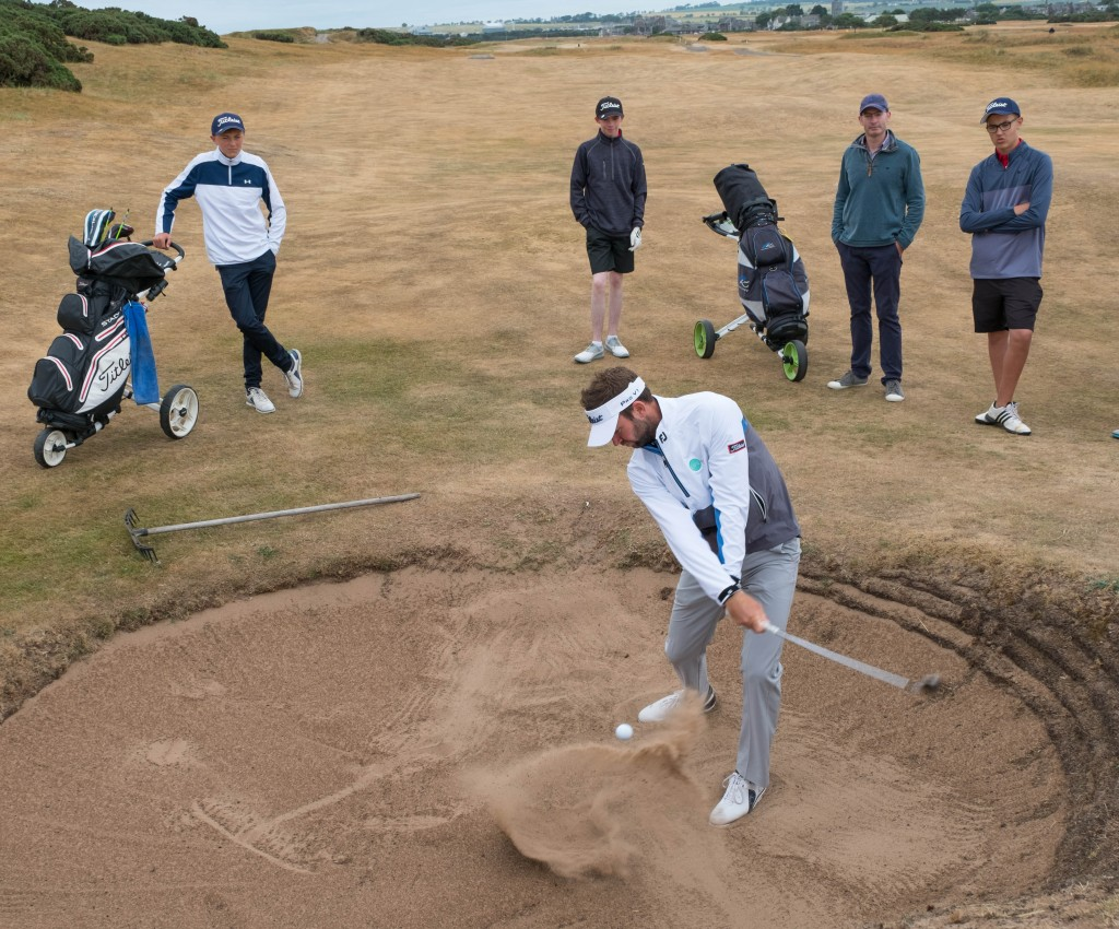 LifeLabs ambassador Scott Jamieson (SCO) was at Montrose Golf Links in association with Winning Scotland Foundation to offer some advice and play a few holes of the 1562 Championship Course with some local youngsters: Picture Stuart Adams, www.golftourimages.com: 16/07/2018