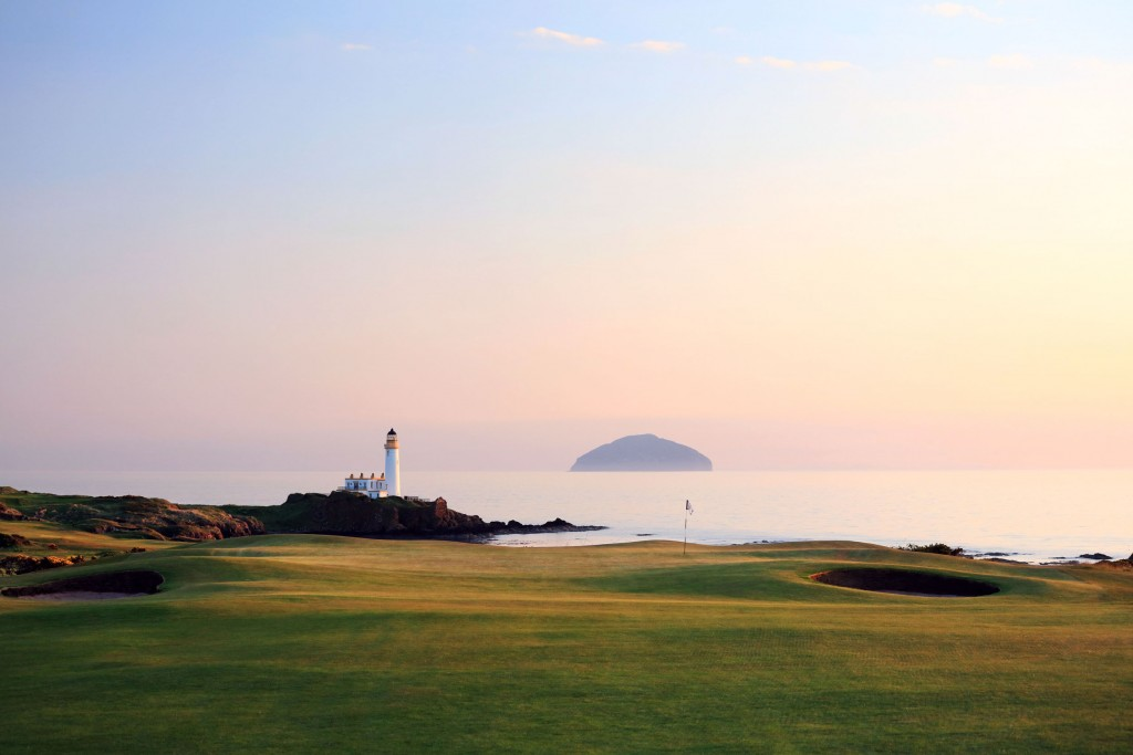 on the King Robert the Bruce Course at the Trump Turnberry Resort on May 28, 2018 in Turnberry, Scotland.