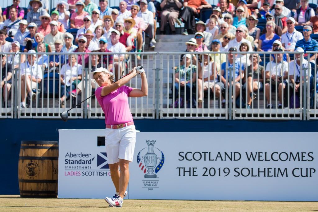 26/07/2018. Ladies European Tour 2018. Aberdeen Asset Management Ladies Scottish Open, Gullane Golf Club. Gullane, Scotland July 26-29 2018. Catriona Matthew of Scotland during the first round. Credit: Tristan Jones