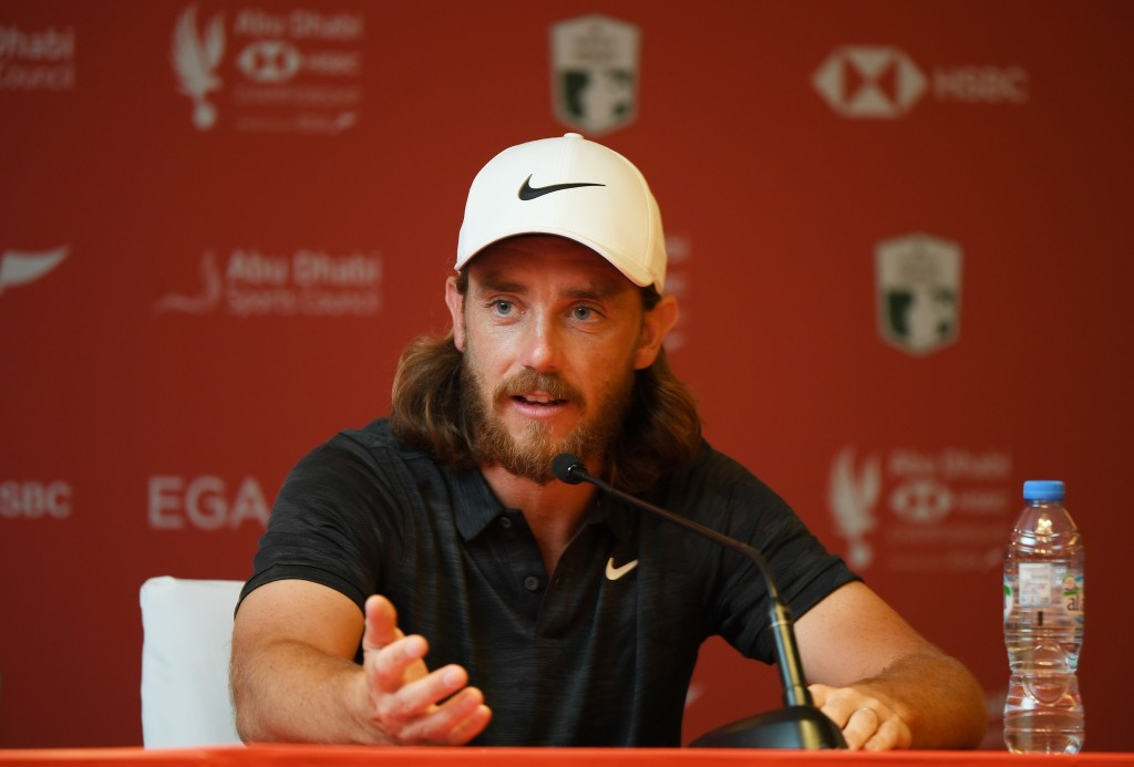 Tommy Fleetwood going for a hat-trick in the Abu Dhabi HSBC Championship this week - his birthday is on the final day which is being played on Saturday after a Wednesday start. Picture by GETTY IMAGES