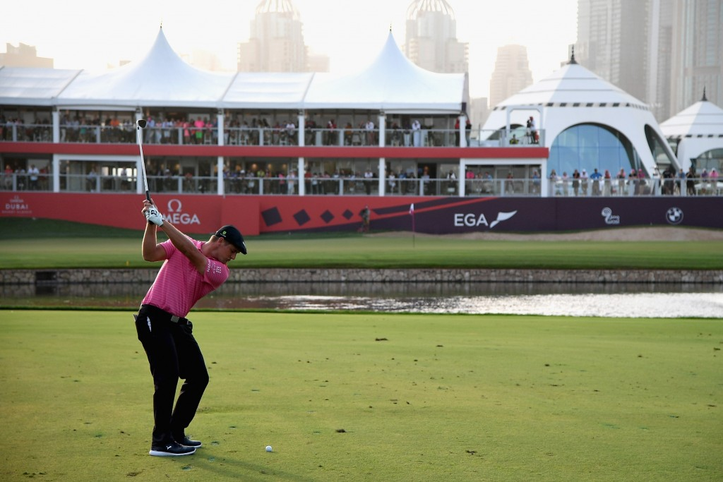 Bryson DeChambeau who fired seven birdies and an eagle on his way to a 66 in the second round of the Omega Dubai Desert Classic. Picture by GETTY IMAGES