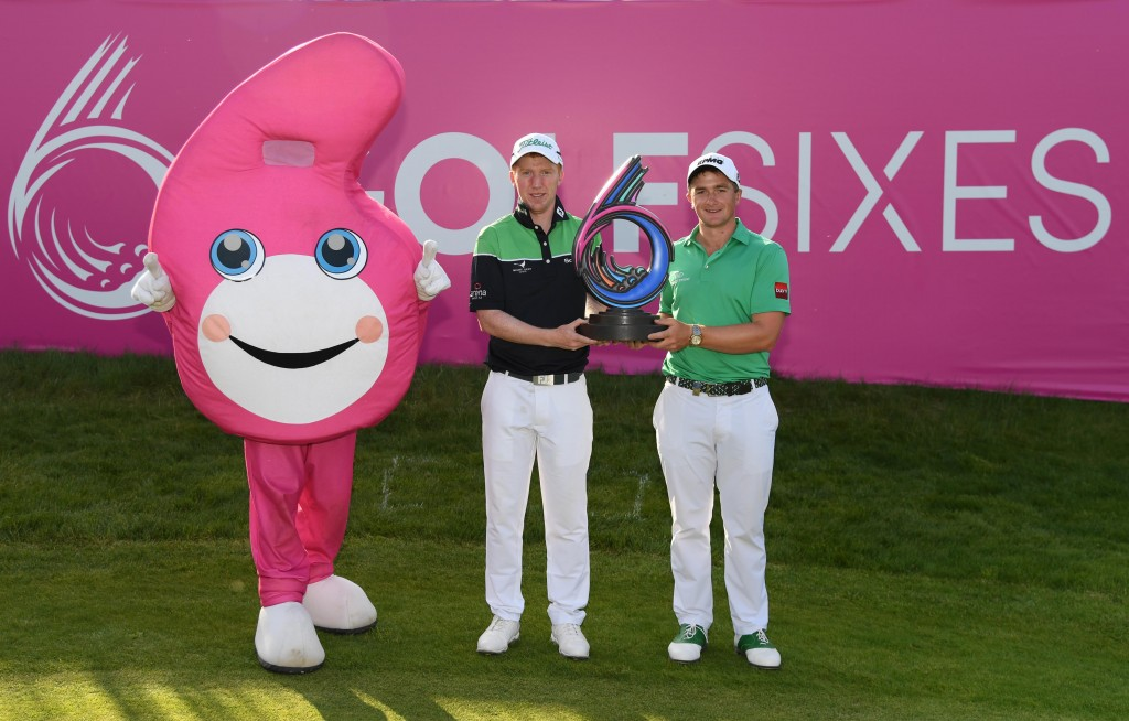Team Ireland's 2018 GolfSixes winners Paul Dunne (right) and Gavin Moynihan, PICTURE BY GETTY IMAGES