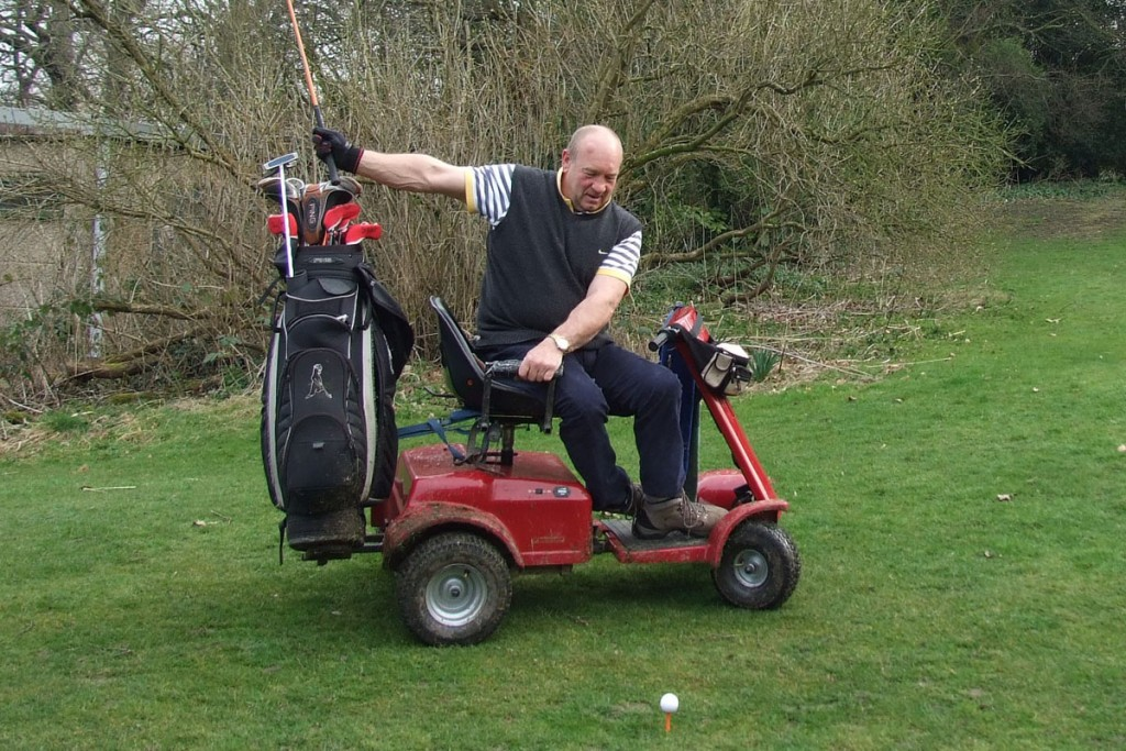 Tapton Park Golf Club's new captain Terry Kirby is chairman of the Handigolf Foundation, which provides adapted wheelchairs to help disabled golfers play the game
