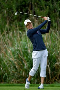 CARLSBAD, CA - MARCH 22:  Catriona Matthews of Scotland tees off the 2nd hole during Round One of the LPGA KIA CLASSIC at the Park Hyatt Aviara golf course on March 22, 2018 in Carlsbad, California. (Photo by Donald Miralle/Getty Images)