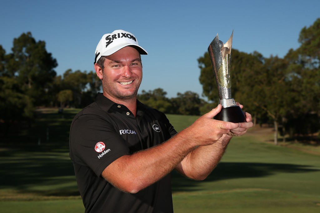 Ryan Fox winner of the ISPS Handa World Super6 Perth after his 3&2 victory over Spain's Adrian Otaegui in the six-hole final. Picture by GETTY IMAGES