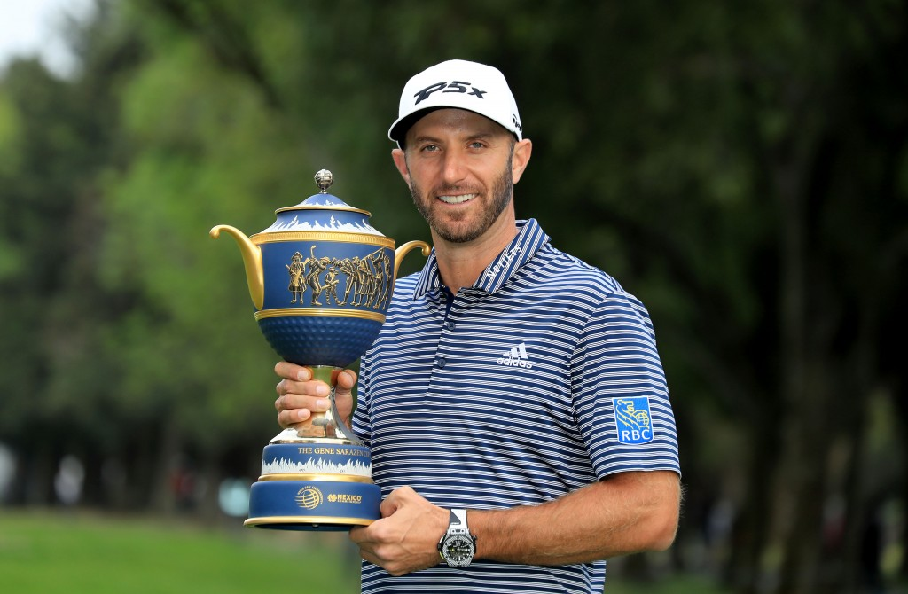 Dustin Johnson claimed the WGC-Mexico Championship for the second time in three years with a five-shot victory. Picture by GETTY IMAGES