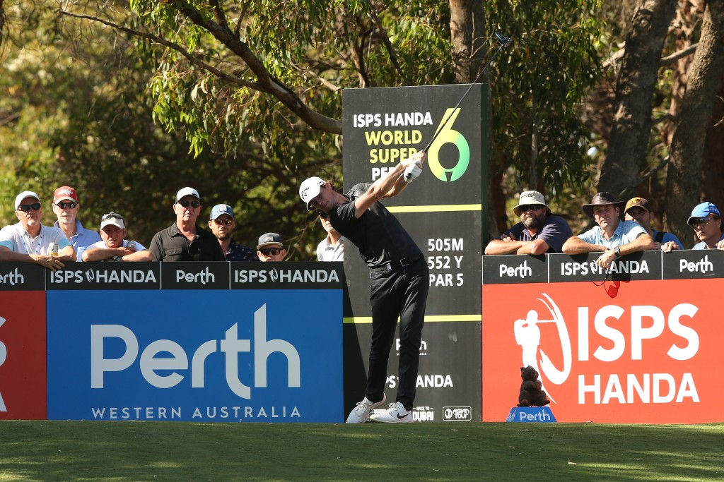 Thomas Pieters played his way into contention in the ISPS Handa World Super 6 Perth after a second round 66. Picture by GETTY IMAGES