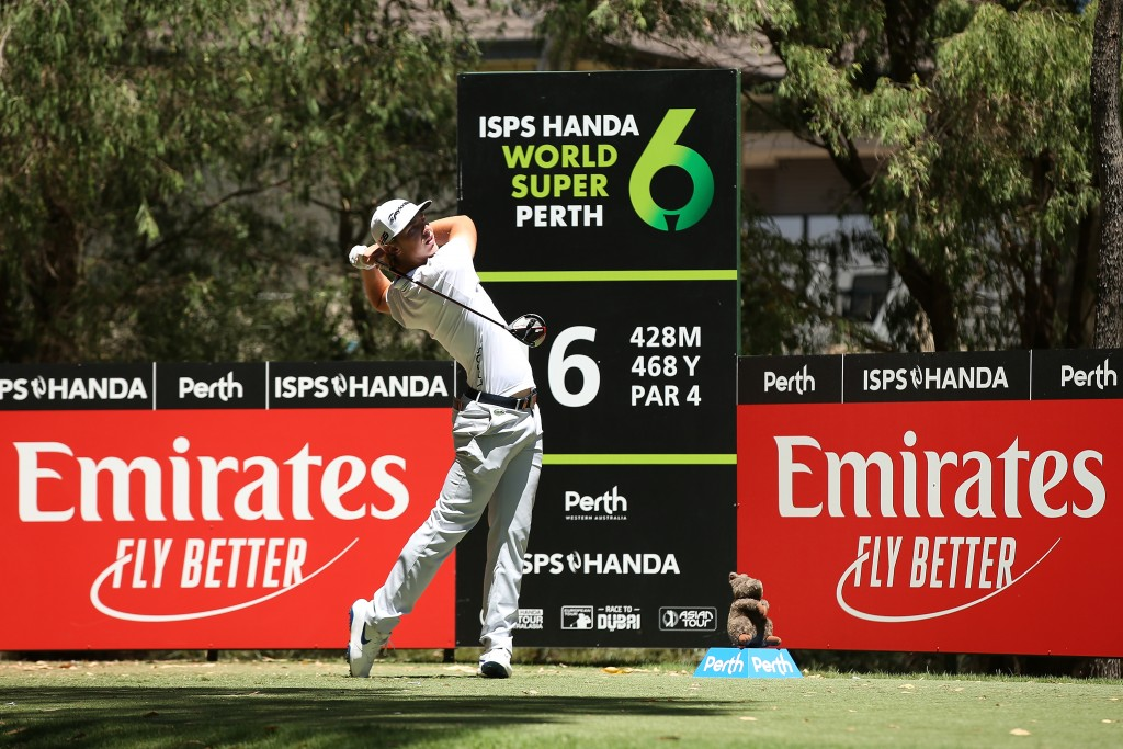 Norwegian rookie Kristoffer Reitan who tied Tabuena at the top of the leaderboard at Lake Karrinyup after both shot seven-under par 65s. Picture by GETTY IMAGES