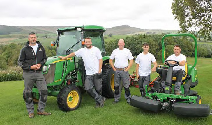 To the fore in sector awards – the greenkeeping team at Skipton Golf Club. Head greenkeeper Ian Brown is pictured left.