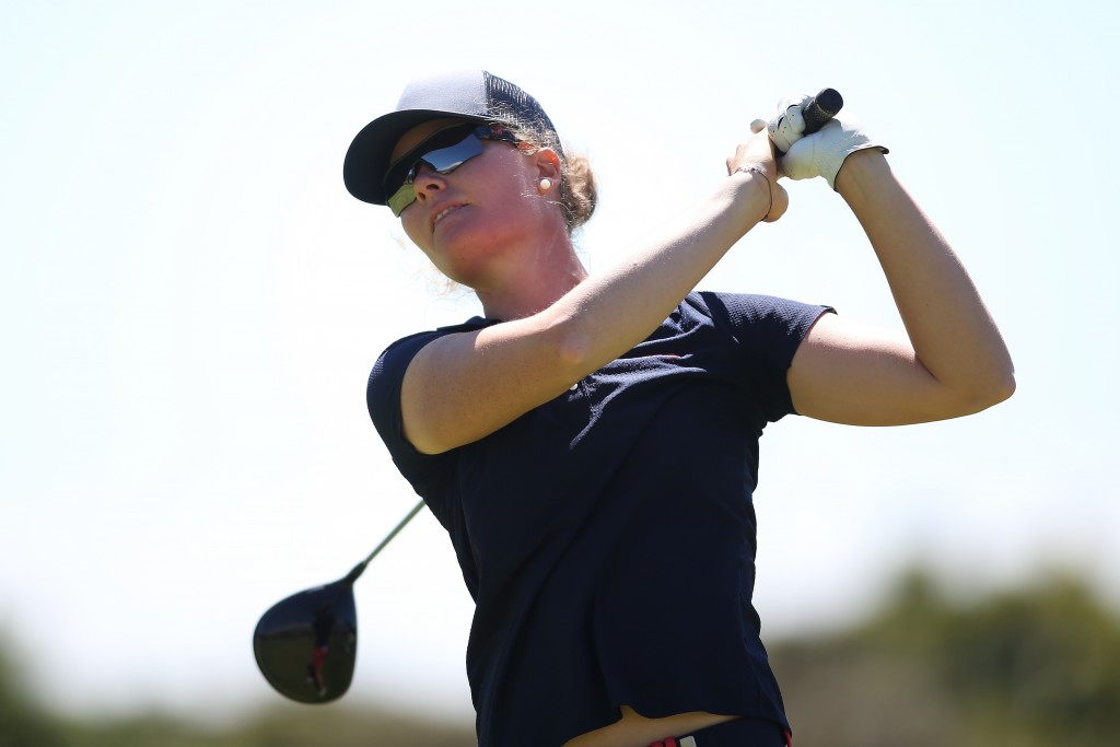 Austrian Sarah Schober joint first round leader in the Investec South African Women's Open at Cape Town's Westlake Golf Club. Picture by SHAUN ROY (Sunshine Tour)