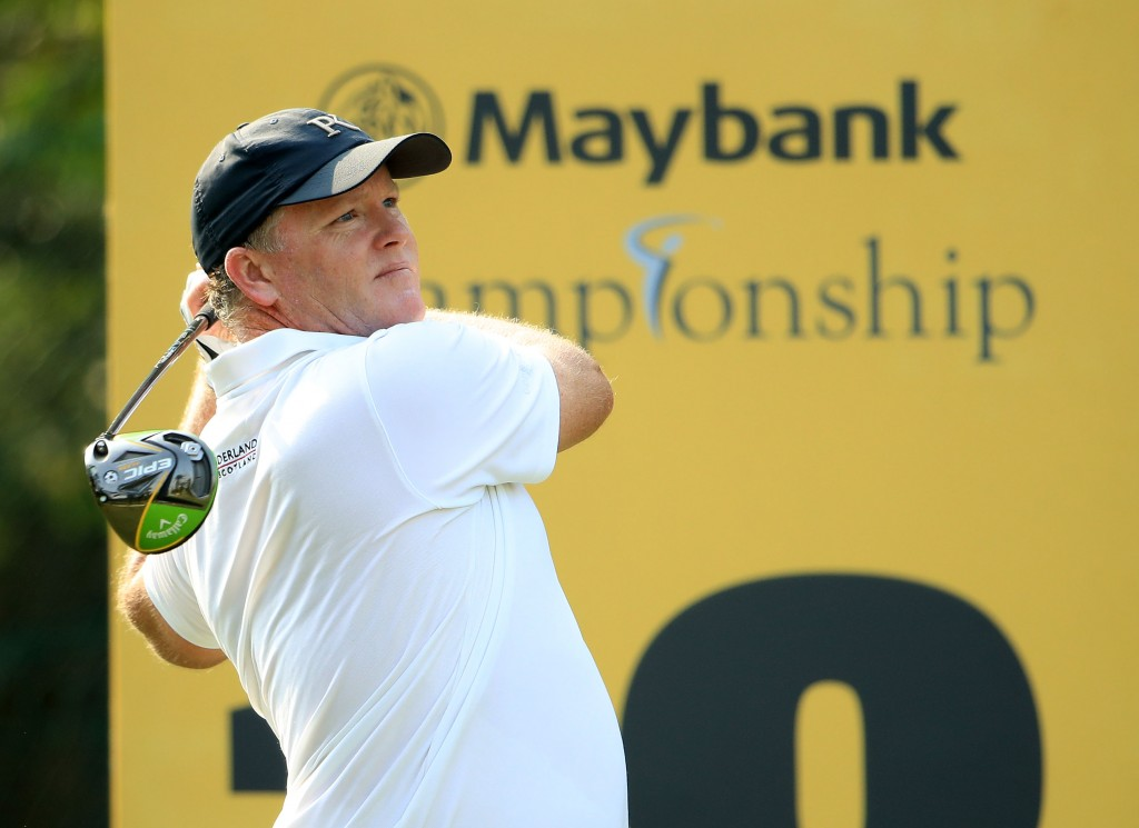 Australia's Marcus Fraser who shot a seven-under par 65 at Kuala Lumpur's Saujana Golf and Country Club, to share the lead at the Maybank Championship with Spaniard Nacho Elvira. Picture by GETTY IMAGES