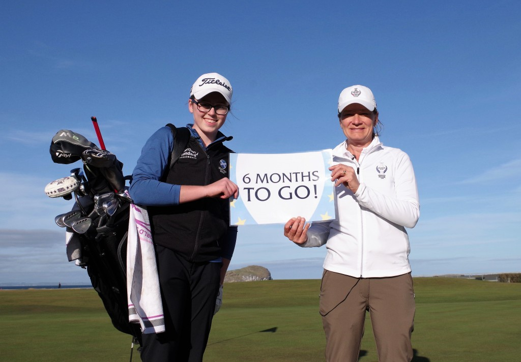 #Project19 hopeful Hannah Darling with Team Europe Solheim Cup Captain, Catriona Matthew