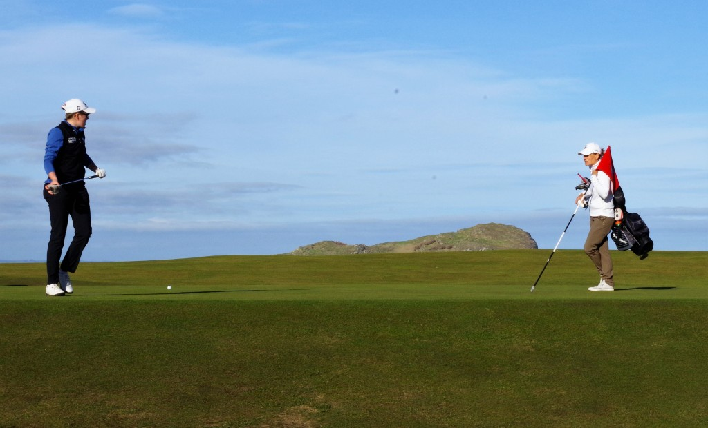 Hannah Darling in action at North Berwick, a jewel in the crown on Scotland's Golf Coast in East Lothian.
