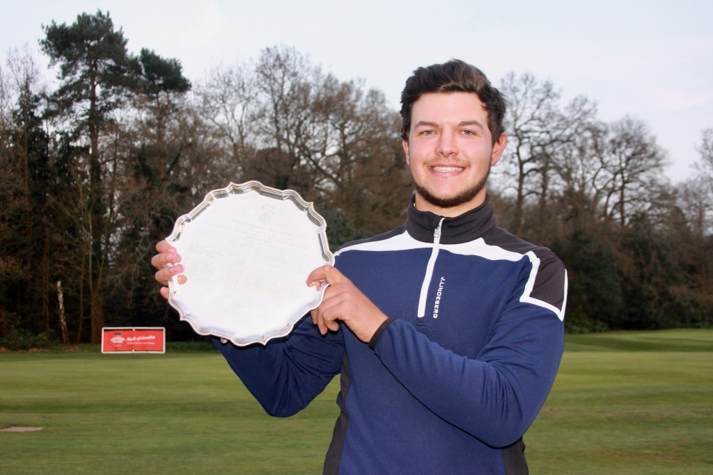 Hallowes' Sam Bairstow is just the  fourth Yorkshireman  to claim the Hampshire Salver for the best 72-hole score in the Hampshire Hog and the Selborne Salver. Picture by ANDREW GRIFFIN / AMG Pictures