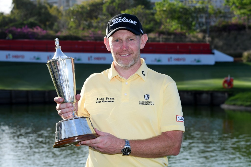 Scot Stephen Gallacher claimed his first win in five years at the age of 44 at the Hero Indian Open. Picture by GETTY IMAGES