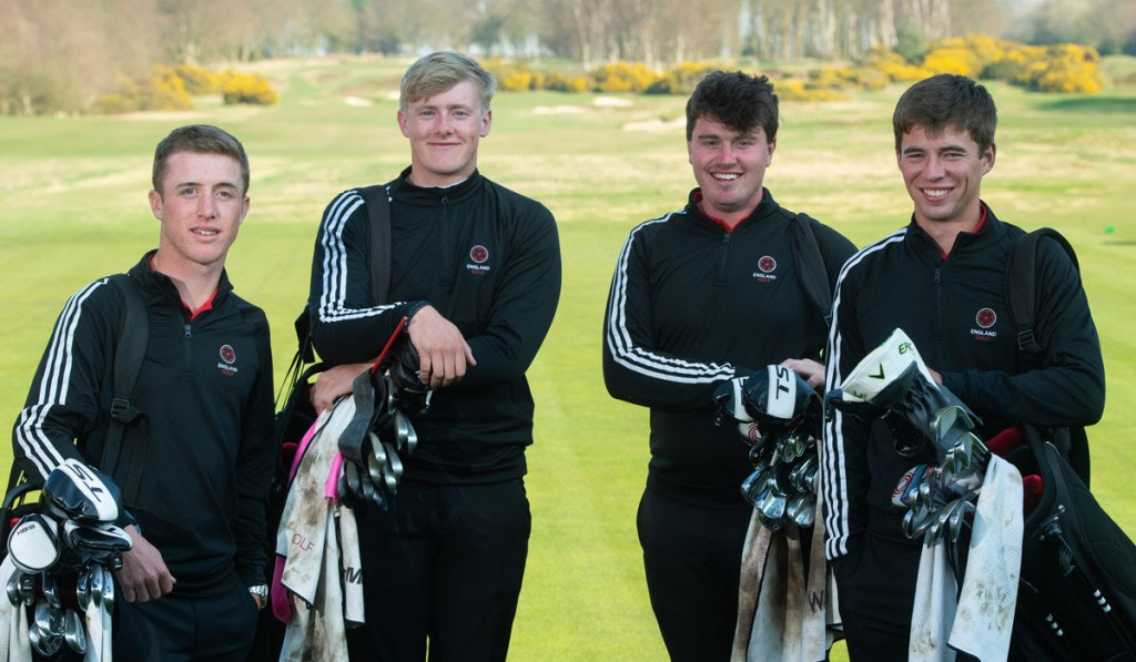 The England quartet who won the European Nations Cup at Sotogrande at the weekend have all been selected for this weekend's England international against Spain at Formby Golf Club Picture by LEADERBOARD PHOTOGRAPHY.