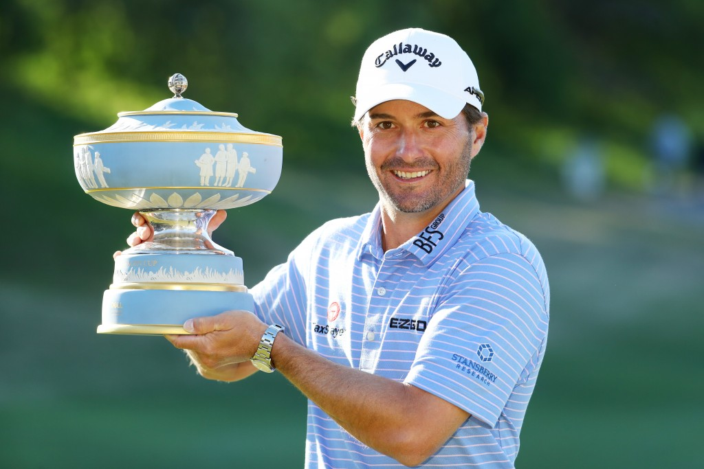 Kevin Kisner put the disappointment of last year's final defeat to beat Matt Kuchar in the WGC-Dell Technologies World Match Play Final. Picture by GETTY IMAGES