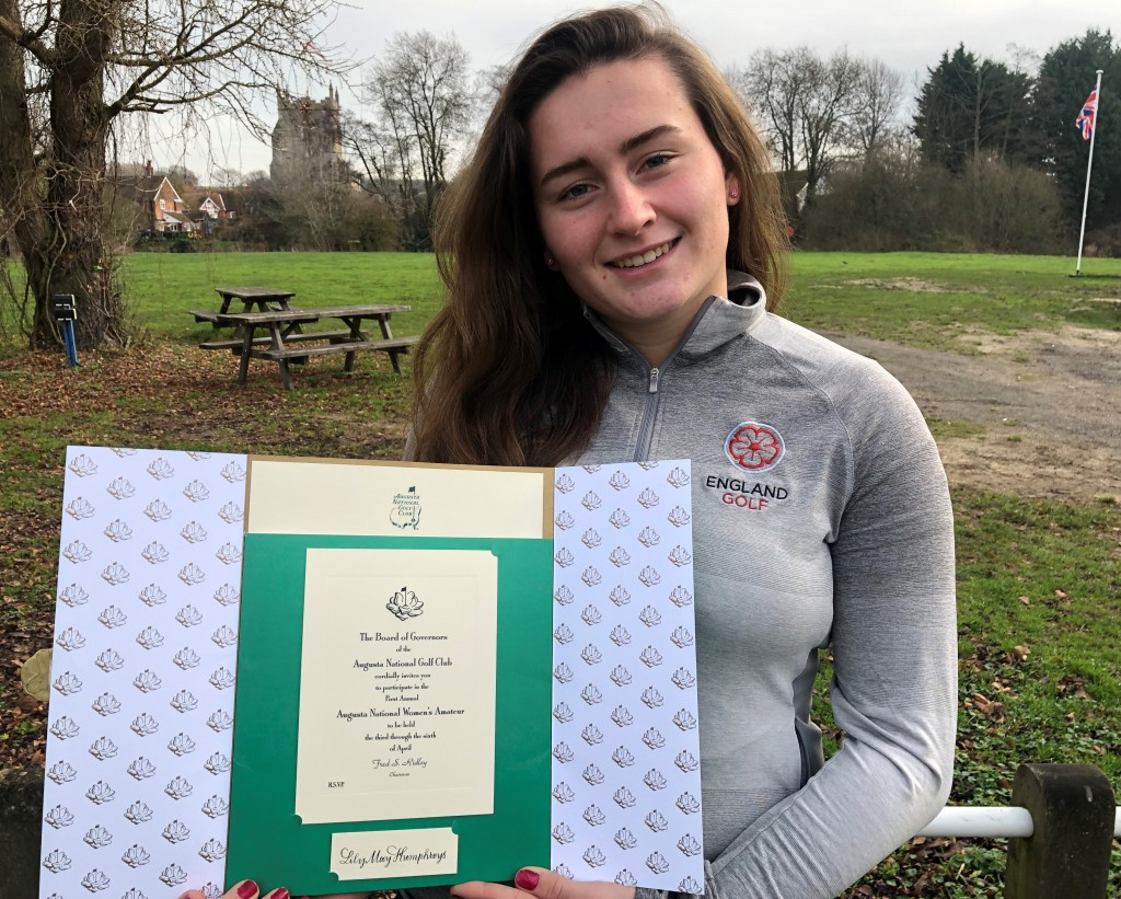 Essex's Lily May Humphreys who was invited to play at Augusta National's Women's Amateur this month and will now play for England at Formby