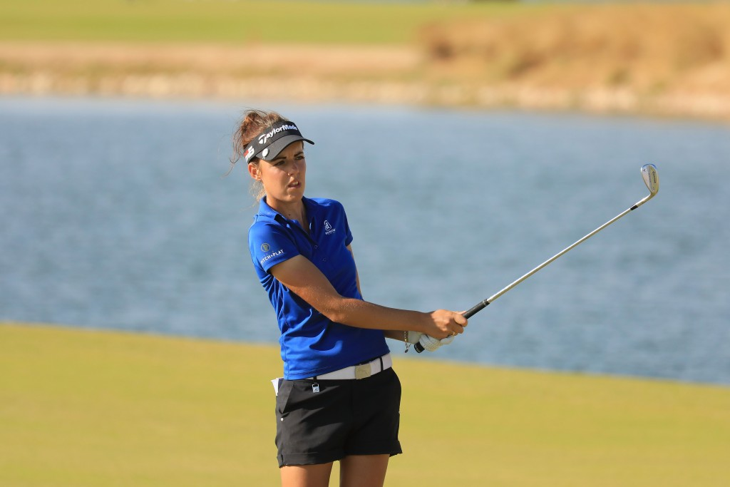 Meghan MacLaren leads the first Jordan Mixed Open after shooting a second successive 65 at the Ayla Golf Club. Picture by GETTY IMAGES