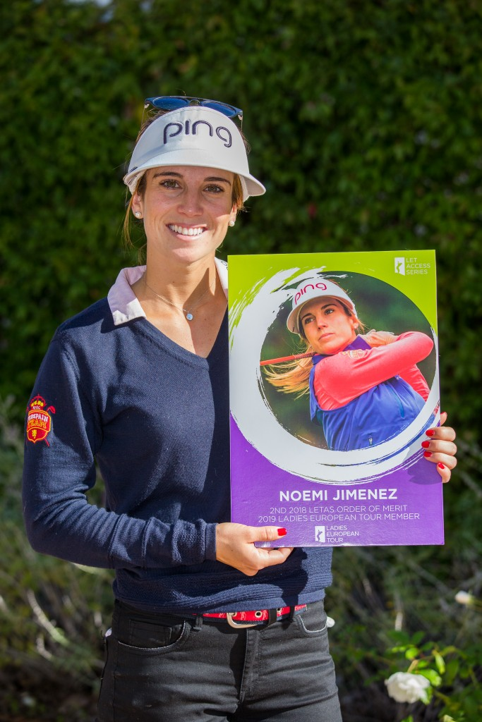 Spain's Noemi Jimenez Martin  who led the 2018 LET Access Series Order of Merit. Picture by TRISTAN JONES
