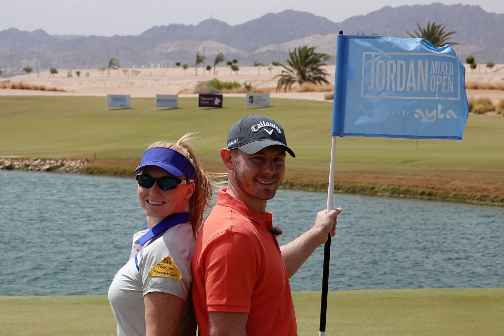 Scott and Kylie Henry will become the first husband and wife to compete in the same professional tournament at this week's Jordan Mixed Open. Picture by GETTY IMAGES