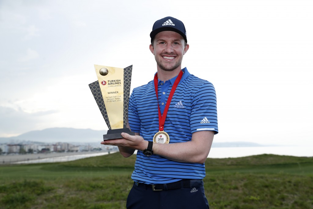Conor Syme, from Kircaldy, claimed his maiden win in the Turkish Airlines Challenge on the European Challenge Tour, on Sunday. Picture by GETTY IMAGES.