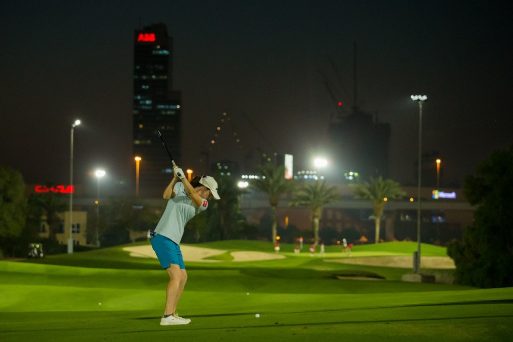 Ireland's  former World No. 1 Amateur golfer – Leona Maguire – made nine birdies after playing the last six holes under the lights on the Faldo Course. Picture by GETTY IMAGES