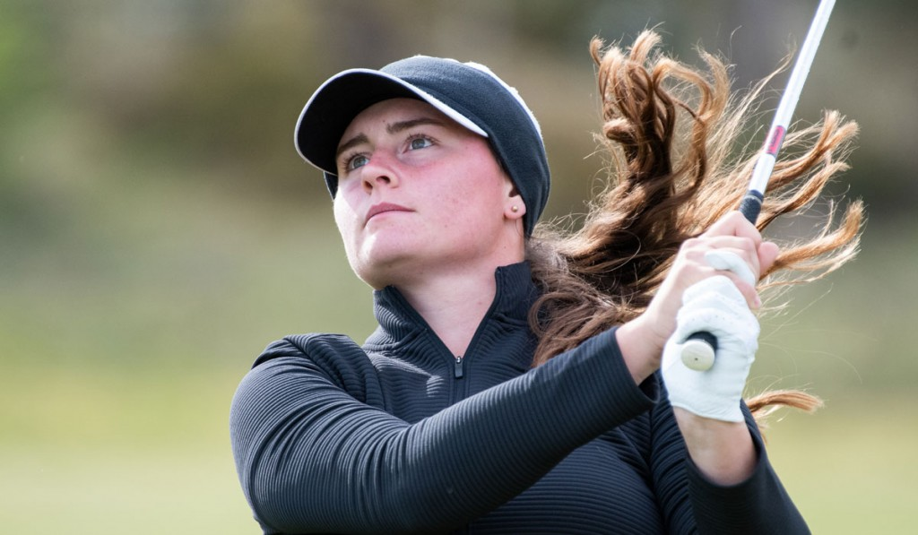 Lily May Humphreys, from Stoke-by-Nayland, who qualified as the number one seed at the English Women's Amateur Championship at Saunton. Picture by LEADERBOARD PHOTOGRAPHY