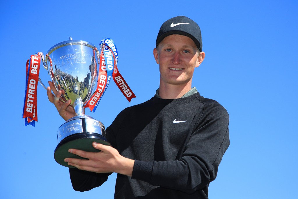 Sweden's Marcus Kinhult recovered from dropping two shots on the back nine at Hillside, to finish birdie, birdie to claim the Betfred British Masters. Picture by GETTY IMAGES