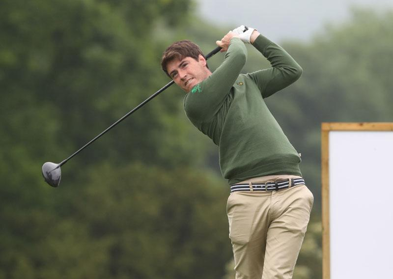 Dermot McElory who led the IFX Championship in the first EuroPro Tour event of the season at Brocket Hall, on Wednesday.
