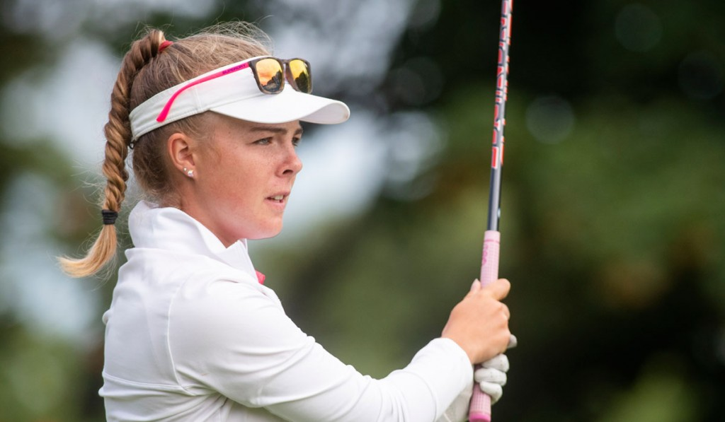 Whitley Bay's Rosie Belsham, winner of the Fairhaven Trophy, has been picked for the England squad who will travel to St Lerot for the German Boys and Girls Championships in June. Picture by LEADERBOARD PHOTOGRAPHY