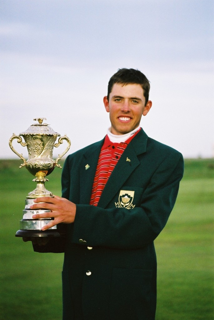 Charl Schwartzel winner of the Brabazon Trophy in 2002