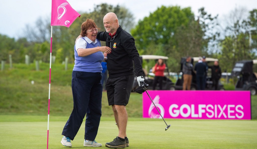 GolfSixes winners Sian Whitbread and Paul Dimmer from Haste Hill Golf Club, who will play in the European Tour GolfSixes, in Cascais, Portugal, in June. Picture by LEADERBOARD PHOTOGRAPHY