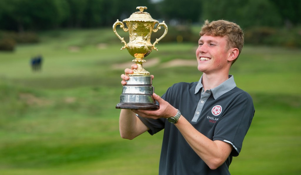 Rotherham Golf Club's Ben Schmidt becomes the youngest-ever winner of the Brabazon Trophy after his five-shot win at Alwoodley GC. Picture by LEADERBOARD PHOTOGRAPHY