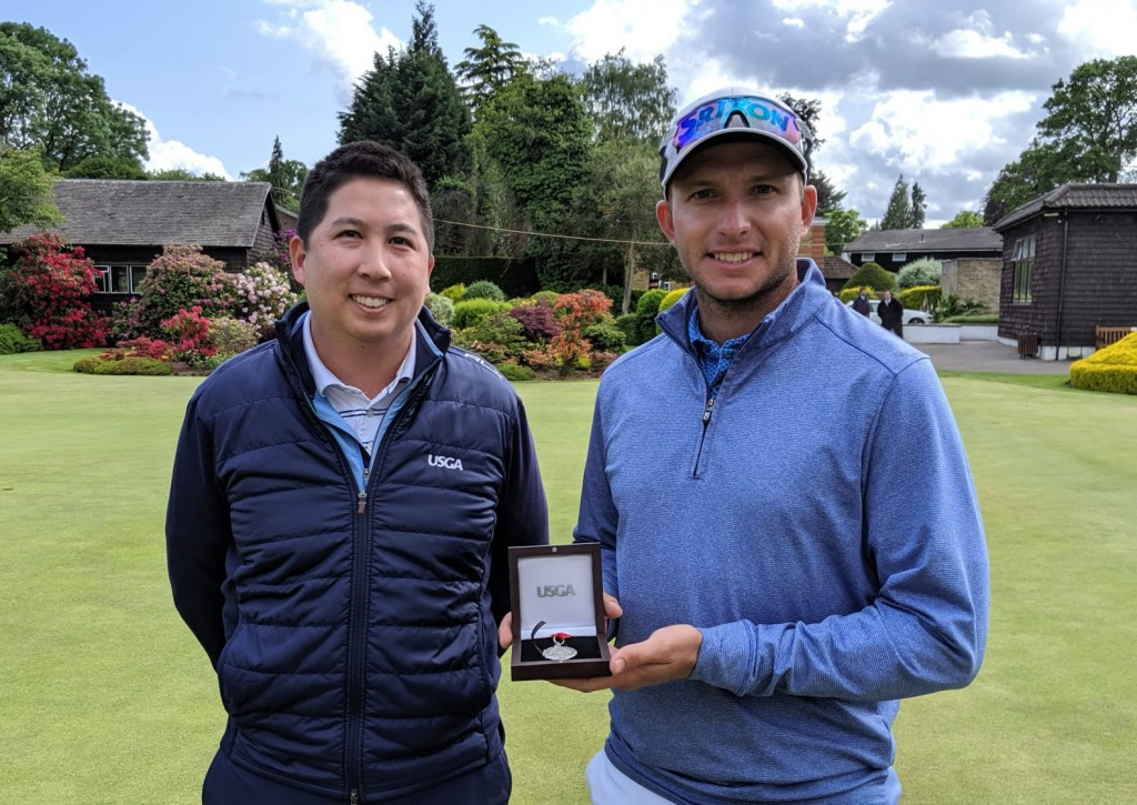 South Africa's Dean Burmester won the US Open Sectional Qualifier at Walton Heath, in June 2019