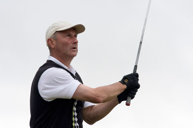 Worplesdon's Ian Attoe is bidding to become the first player to defend the English Seniors Championship since Alan Squires claimed a hat-trick of wins back in 2012. Picture by LEADERBOARD PHOTOGRAPHY