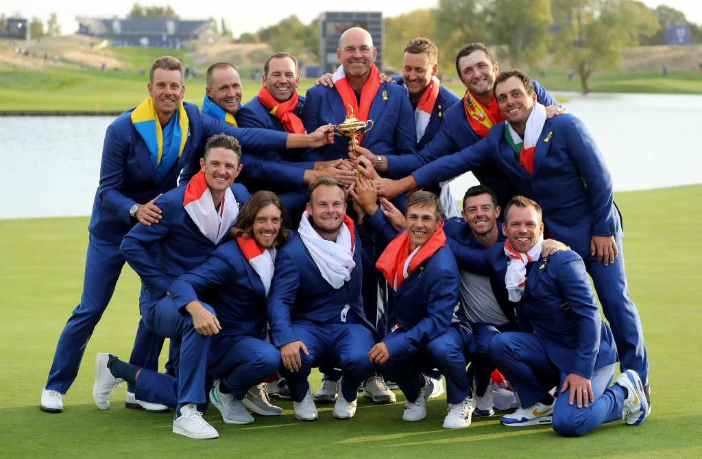 Thomas Bjørn's team'S achievements in the 2018 Ryder Cup at Le Golf National was matched by its commercial impact outside the ropes says a new study. Picture by GETTY IMAGES