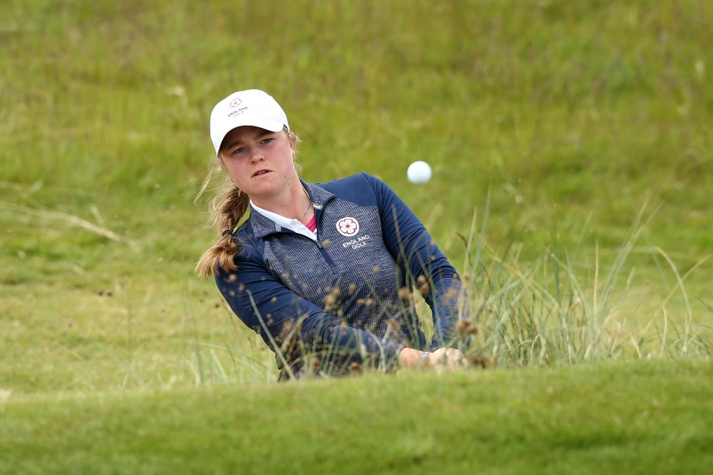 Euphemie Rhodes, from Somerset's Burnham & Berrow, hit the heights in the second round of the British Women's Amateur Championship, knoocking out No. 1 seed Hannah Screen, at Royal County Down, in Northern Ireland. Picture by The R&A / GETTY IMAGES