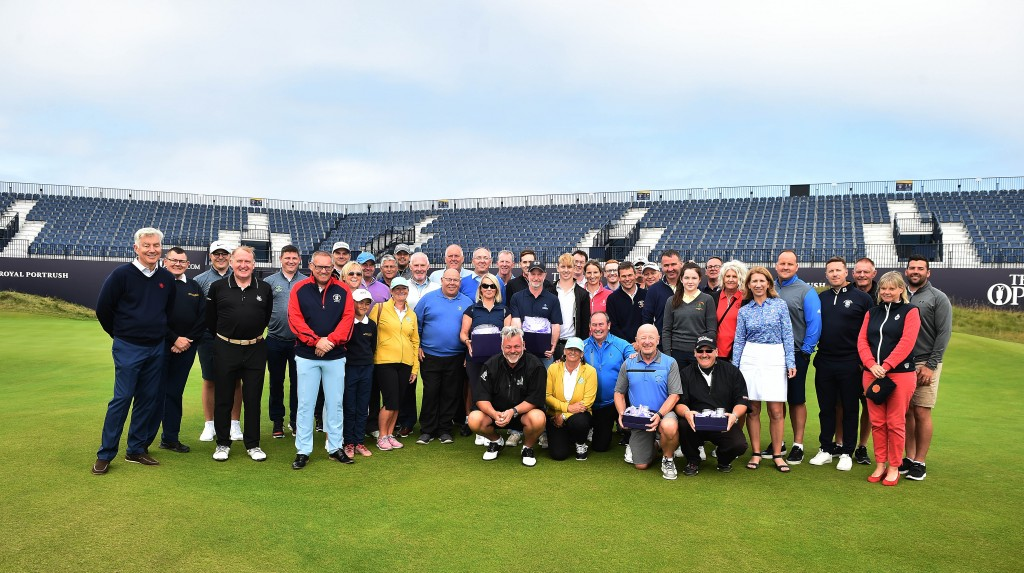 Finalists in the R&A 9 Hole Challenge at Royal Portrush