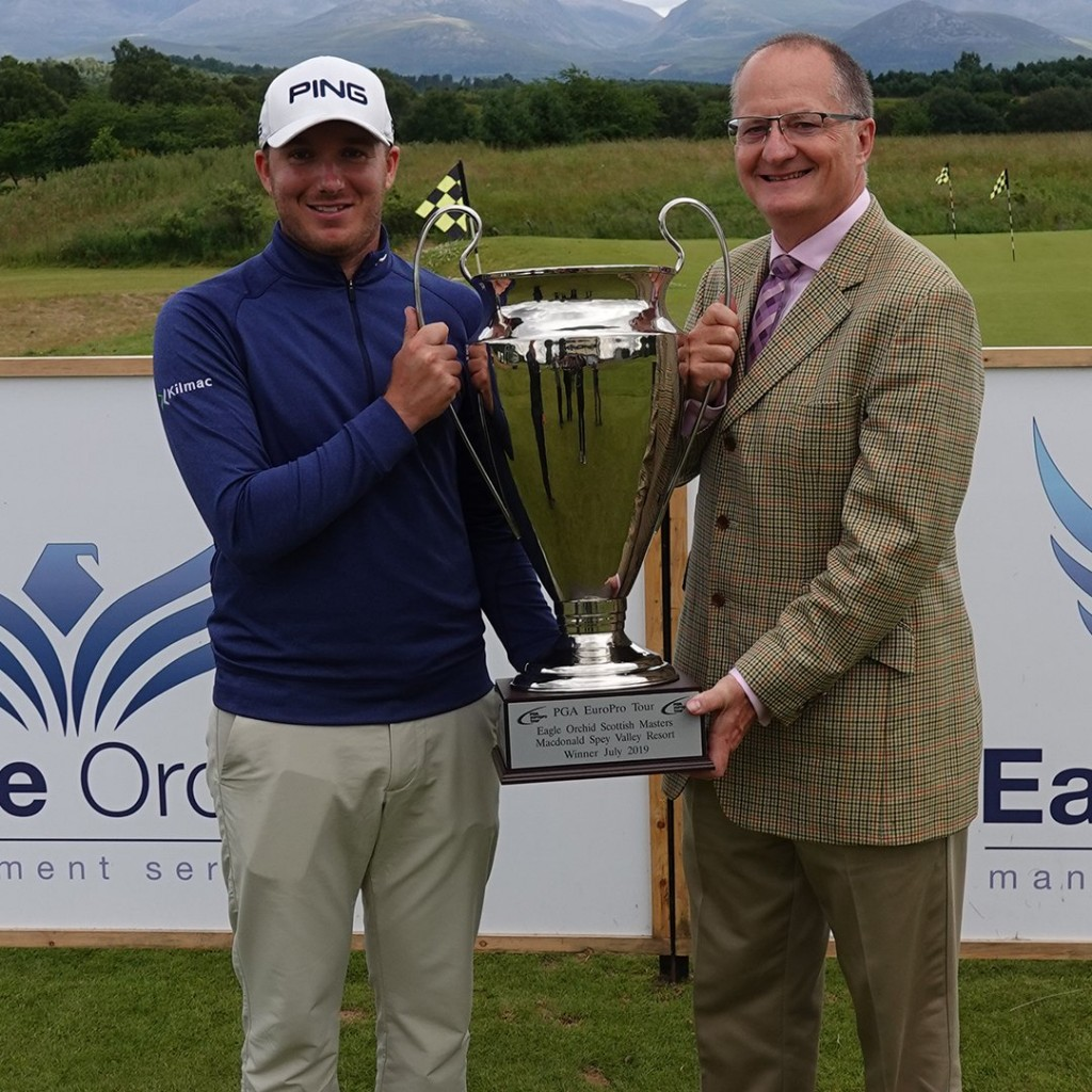 Europro 2019 Eagle Orchid Scottish Masters winner Daniel Young at Spey Valley