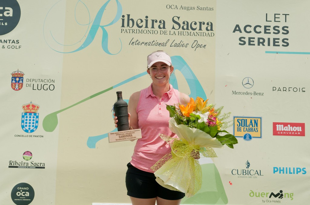 Ribiera Sacra Partimonio de la Humanidad International Ladies Open winner Rachel Goodall from Wallasey Golf Club