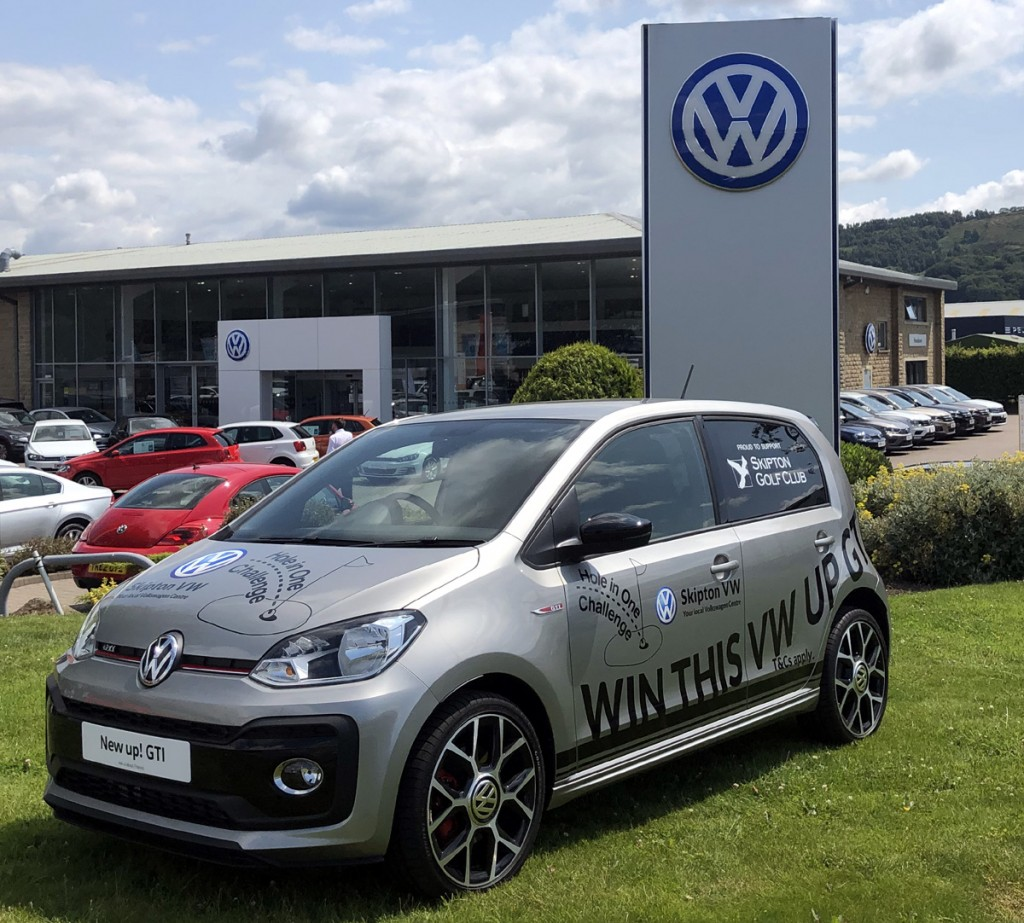 The one that got away! The car provided by Skipton VW for a hole in one at Skipton Golf Club's annual open day competition.